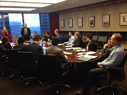 Students learning about wealth management industry